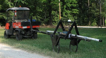 A towed EM31 system primarily used for measuring ground conductivity