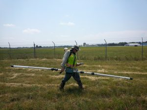 EM31, landfill geophysics, buried waste, north carolina geophysics