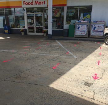 Utility locate markings