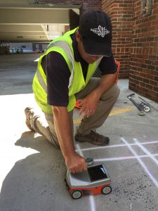 concrete inspection, GPR, rebar mapping, concrete reinforcement mapping